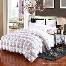 twin down duvet winter white goose down comforter warm duvet quilted thicken quilt blanket cotton outer