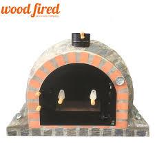 details about brick outdoor wood fired pizza oven 100cm pro deluxe stone split door