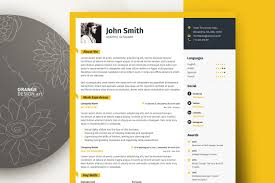 Word Resume Template With Photo Graphic Designer Cv Template