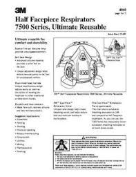3m N95 Mask Size Chart 3m Series 7500 Size S Half Mask Respirator 71855142