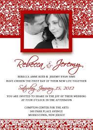 Wedding Invitation Template Set Psd Photoshop Damask