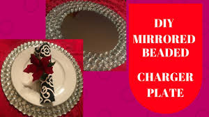 diy mirrored crystal charger plate wedding centerpiece