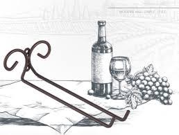 metal wall mounted wine glass rack