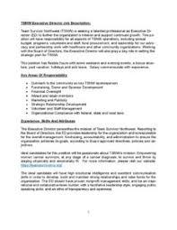 director job description executive director job description final team survivor northwest