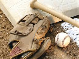 Guante, bate y pelota béisbol