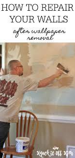 diy wall repair after wallpaper removal