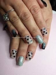 Social Build - Nude And Black Gel With Valentine Heart Design ...
