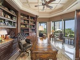 home office mexico. Traditional Formal Home Office - Built Ins Antique Desk Leather Chair View Of The Gulf Mexico. Provence In Park Shore Mexico