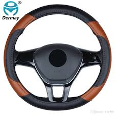 2019 car styling high grade pu leather steering wheel cover protection 38cm 15 universal anti slip four seasons general for kia vw from atmt710