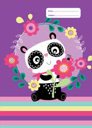 exercise book cover panda love