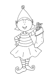 Printable Christmas Elf Coloring Pages Mesmerizing Elves Sheets