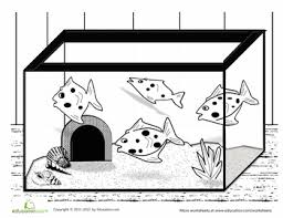 Small Picture Fish Tank Coloring Page Fish tanks Worksheets and Fish