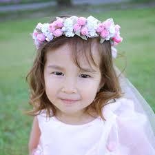 まるで花嫁さんのように可愛いフラワーベール 子供 髪飾り キッズ ベビー