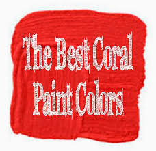 coral paint colorArt Blog for The Inspiration Place The Best 9 Coral Color Paint