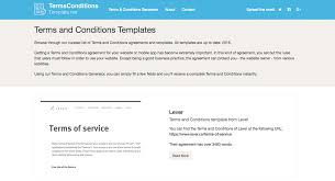 Website Terms And Conditions Template Simple Terms And Conditions Template Generator Free 28