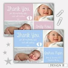 Boy Or Girl Baby Announcement Details About Personalised New Baby Thank You Cards Boy Girl Birth Announcement Envelopes