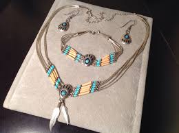 yn pollack silver turquoise bear paw necklace