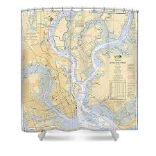 Charleston Harbor Chart 11524 Noaa Chart Shower Curtains Fine Art America