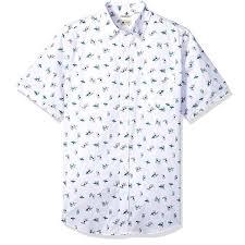 Haggar Men S Micrographics Surf Board Print Shirt