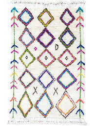 colorful diamond moroccan rug for beautiful living room floor decor idea