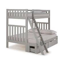 cool loft beds for kids. Aurora Dove Gray Twin Over Full Bunk Bed With Storage Drawers Cool Loft Beds For Kids
