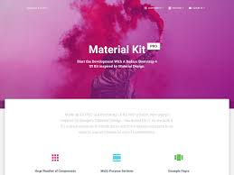 Bootstrap Material Design Example Material Kit Pro Bootstrap 4 Material Design Ui