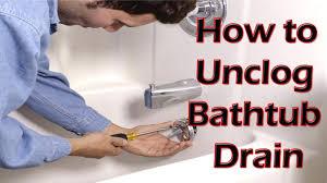 clogged bathtub drain bathtub how to unclog bathtub drain unclogging a slow drain how to clear