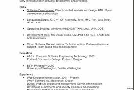 Entry Level Software Engineer Resume Developer Resume Template Software Within Database Entry Level 73