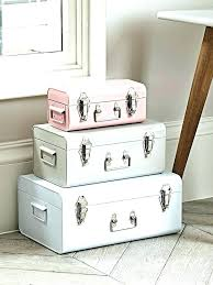 mesmerizing home ideas inspirations remarkable decorative storage trunks in traveler set of 3 boxes decorative