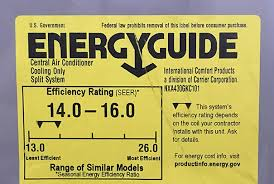 Ceer Rating Chart Seer Energy Savings Calculator For Air Conditioners