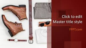 Free Leather Templates Free Mens Clothing Powerpoint Template Free Powerpoint