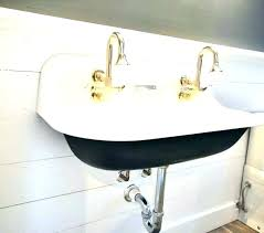 trough bathroom sink with two faucets trough style bathroom sinks trough sink trough sink double trough