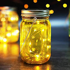 Decorative Jars With Lids Amazon BRIGHT ZEAL 100 Waterproof LED Mason Jar Lights Solar 98