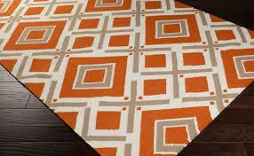 brilliant orange shag area rugs persian rug red r with design