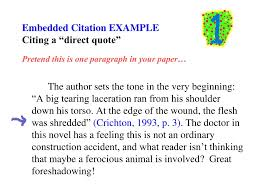 Ppt Tips On Writing Embedded Citations And A Reference Page For