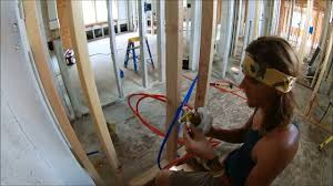Plumbing A Tub  Shower Rough In How To YouTube - Bathroom plumbing layout