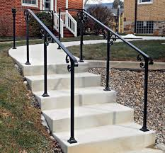 outdoor metal stair railing. Full Size Of Stair Railing Formidable Contemporary Exterior Railings Images Ideas Modern Stairs And Kitchen 48 Outdoor Metal T