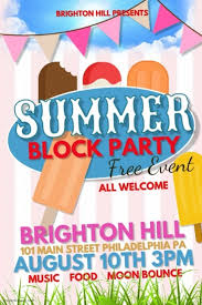 Block Party Flyers Templates Summer Block Party Template Postermywall