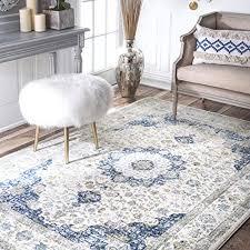 nuloom vintage persian verona area rug 8 x 10 blue