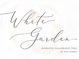 logo font white garden calligraphy logo font by fonts collection dribbble