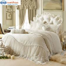 luxury comforter sets. Interesting Sets Princess Lacecotton Luxury Bedding Sets Queen King Size Beigepinkred In Luxury Comforter Sets C