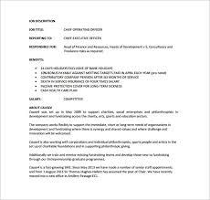 Coo Job Description Magdalene Project Org