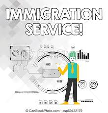 Word Writing Text Immigration Service Business Concept For Responsible For Law Regarding Immigrants And Immigration Man Standing Holding Pen Pointing
