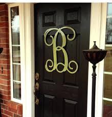 letters for front doorFront Doors  Front Door Inspirations Metal Initial Letters For