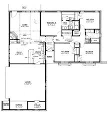 ranch style house plan 4 beds 2 00 baths 1500 sq ft 36 372 square feet