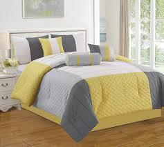 jf 7 piece bed in bag microfiber luxury comforter set queen yellow