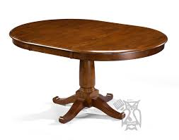 solid parawood desoto collection 42 round extension table in burnished sienna finish