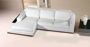 white leather compact sectional sofa
