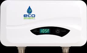 Ecosmart Tankless Water Heater Sizing Chart Tankless Electric Water Heaters Ecosmart