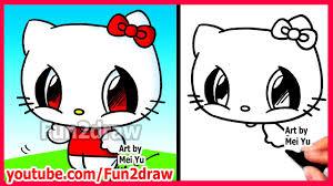 How To Draw Cartoon Characters Hello Kitty Fun2draw Easy Drawings